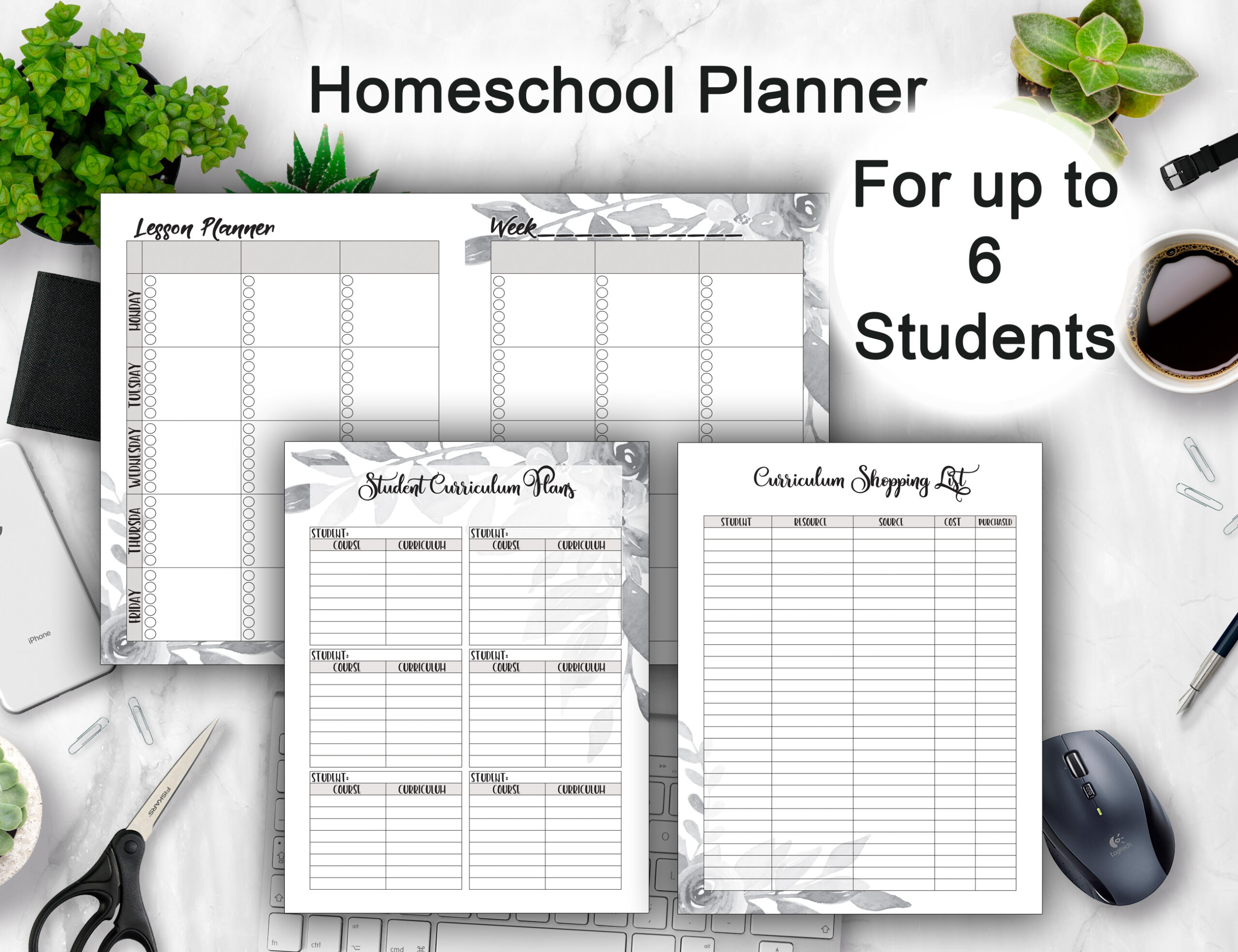 Weekly Homeschool Planner 2021 Calendars + Lesson Plans ...